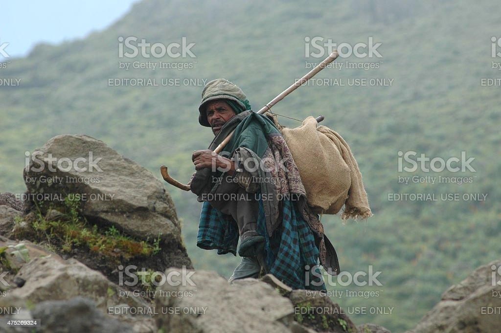 Ethiopian nomad stock photo