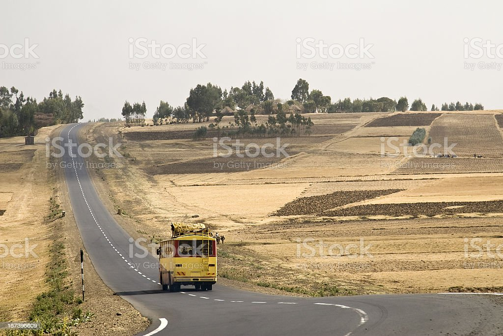 Ethiopian public bus royalty-free stock photo