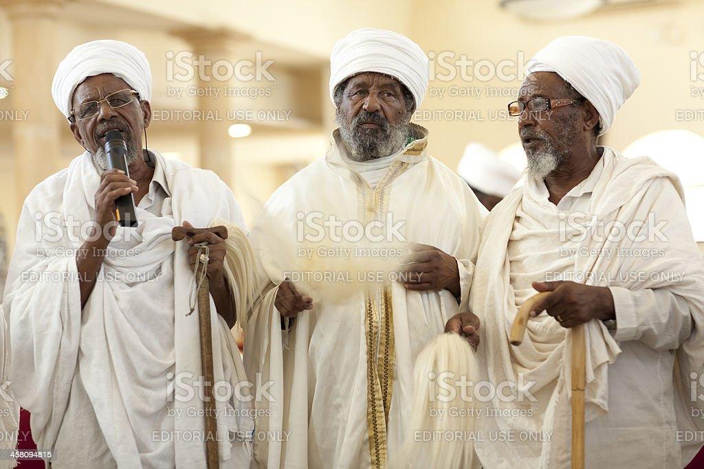 Ethiopian Rabbis speech. stock photo