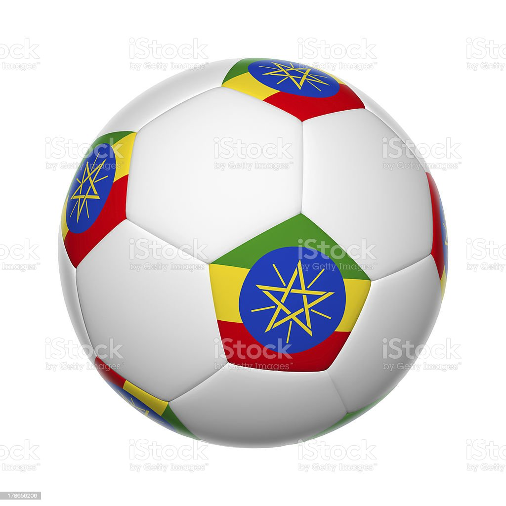 Ethiopian soccer ball royalty-free stock photo
