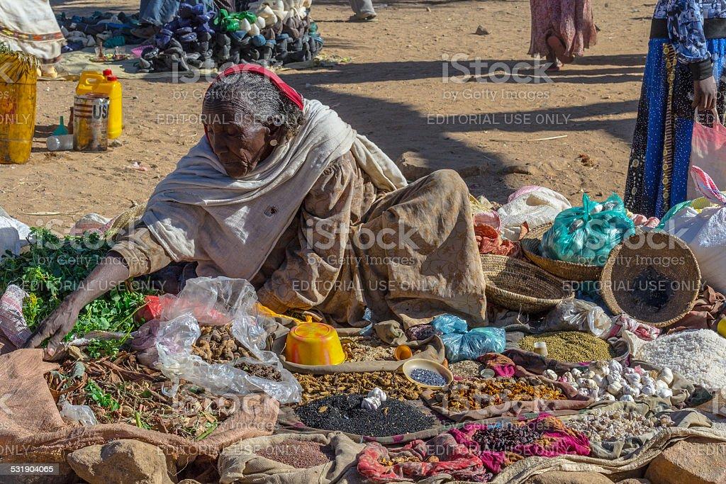 Ethiopian street market stock photo