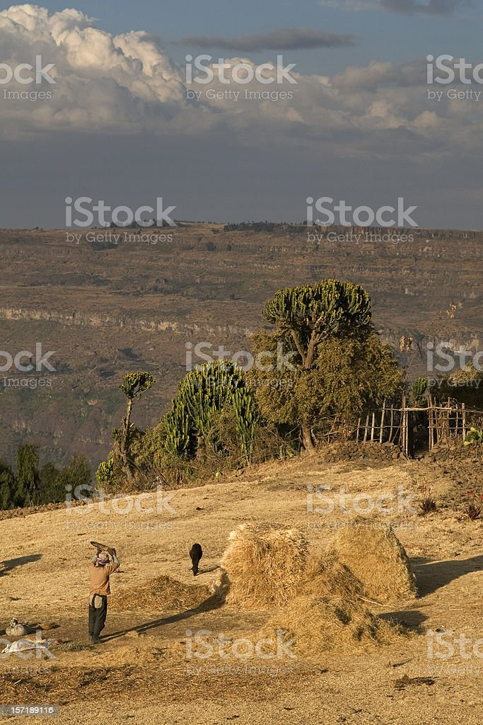 Ethiopian village stock photo