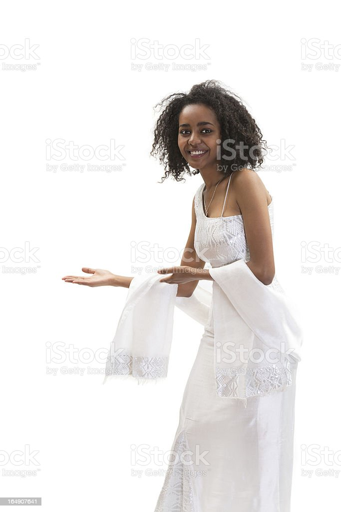 Ethiopian welcom woman royalty-free stock photo