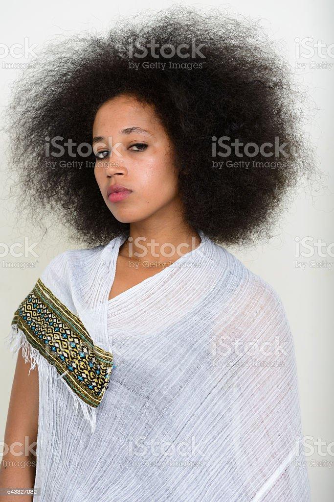Ethiopian woman stock photo