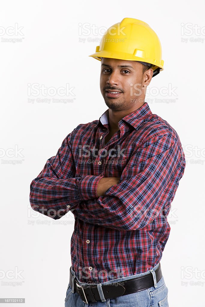 ethnic construction worker royalty-free stock photo
