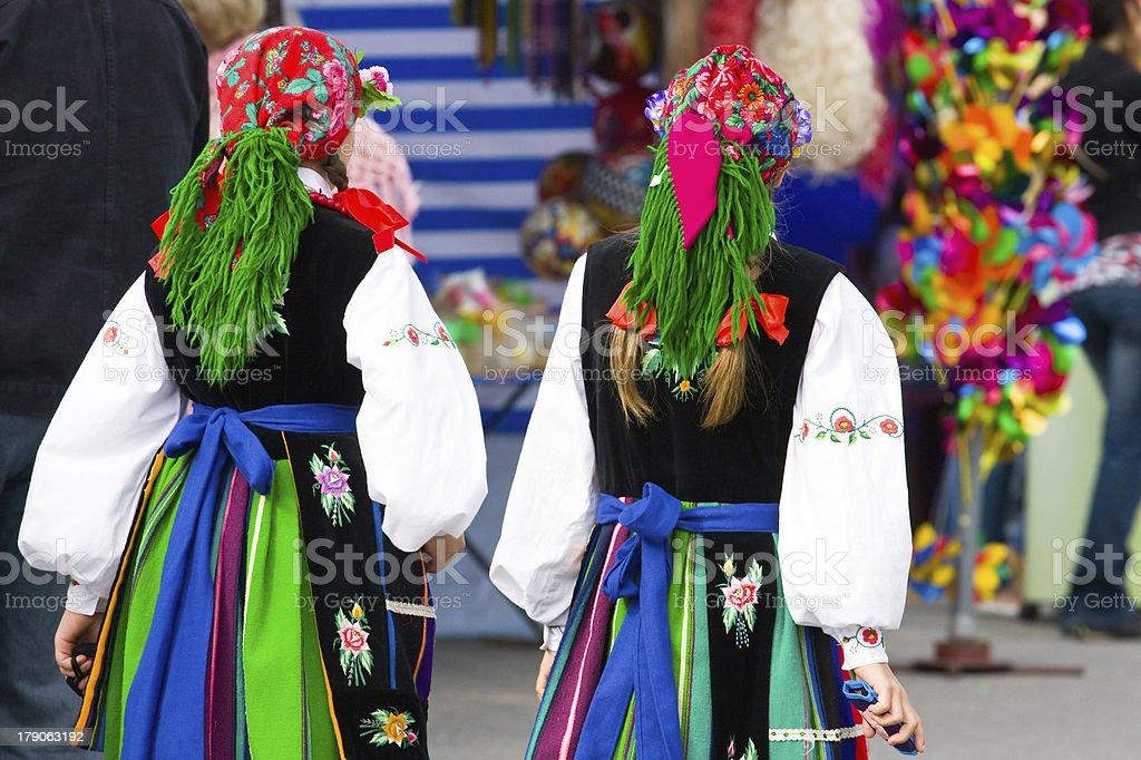 Ethnic costumes stock photo