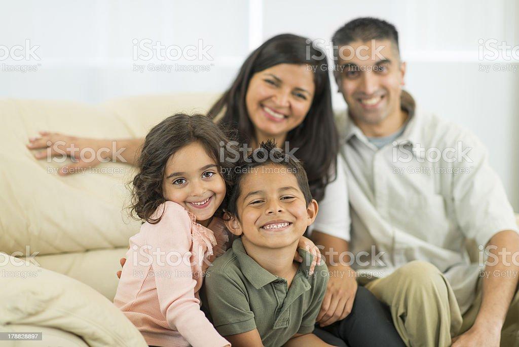 Ethnic Family royalty-free stock photo
