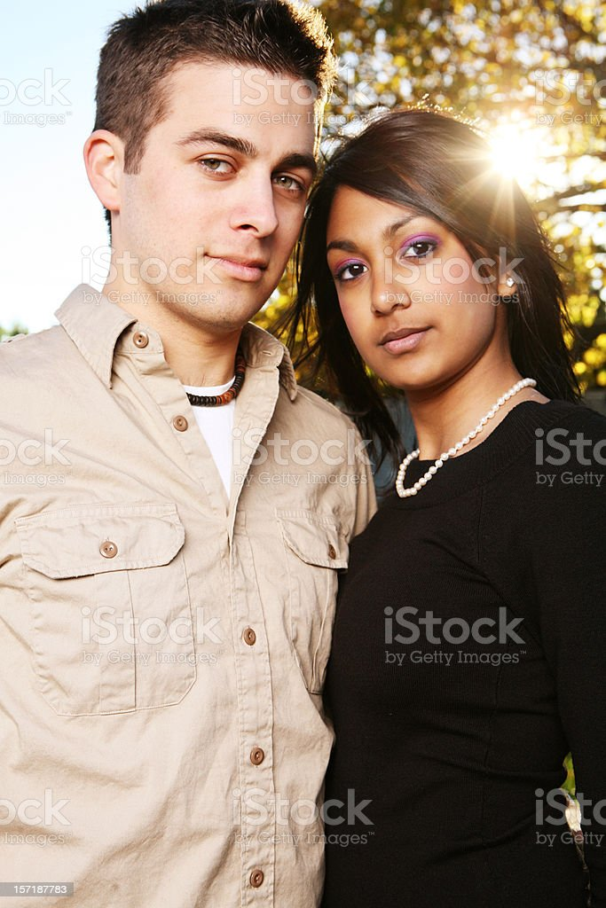 Ethnic Female and Male Portrait royalty-free stock photo