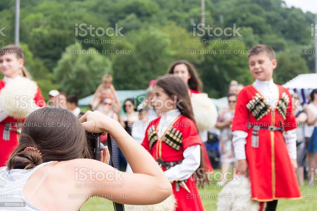 Ethnic festival stock photo