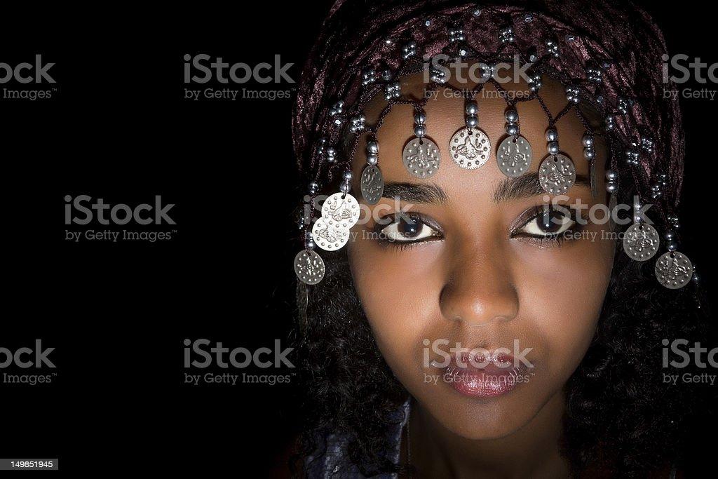 Ethnic headdress royalty-free stock photo