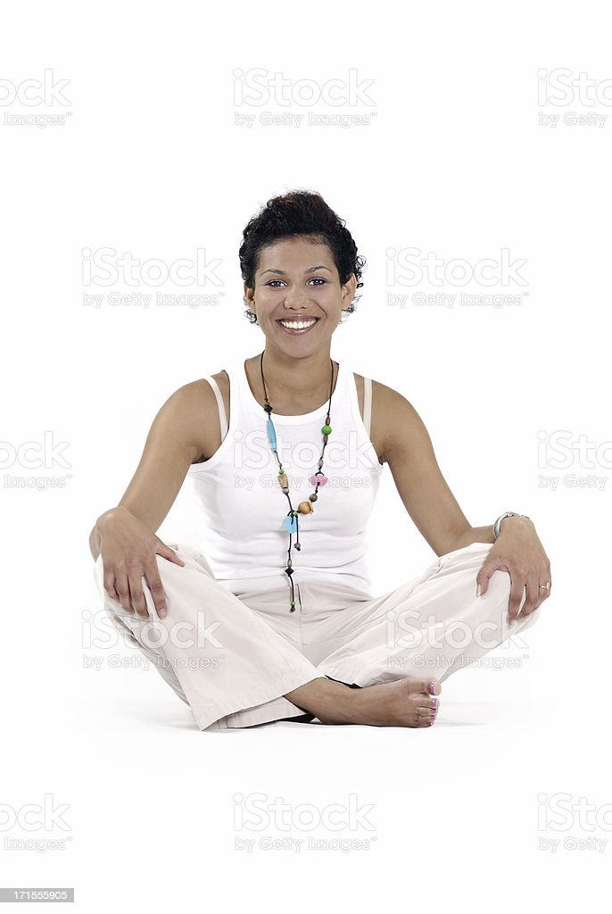 Ethnic meditation stock photo