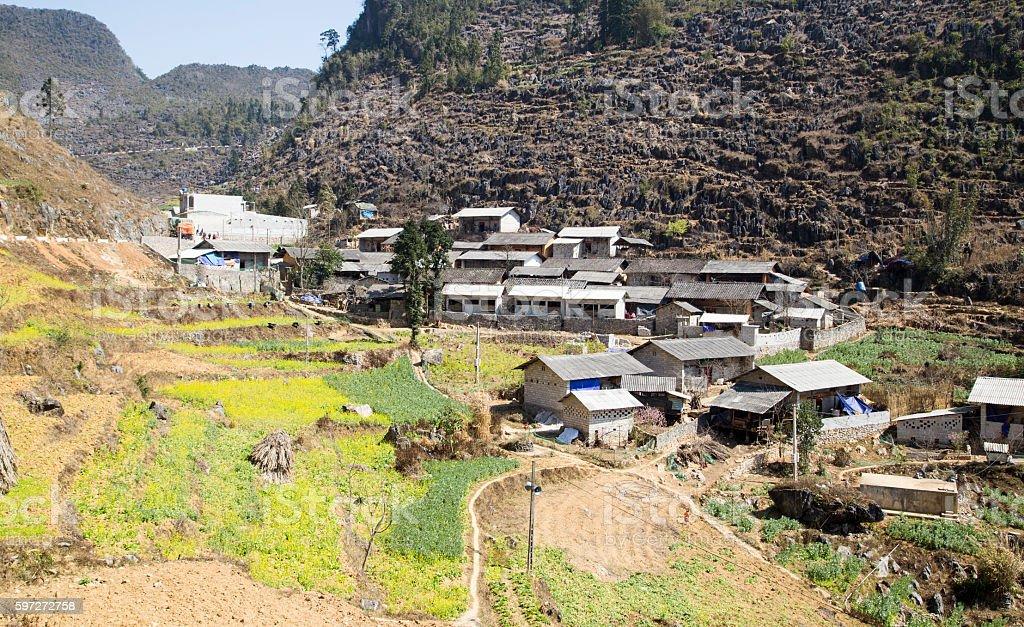 Ethnic minority village stock photo