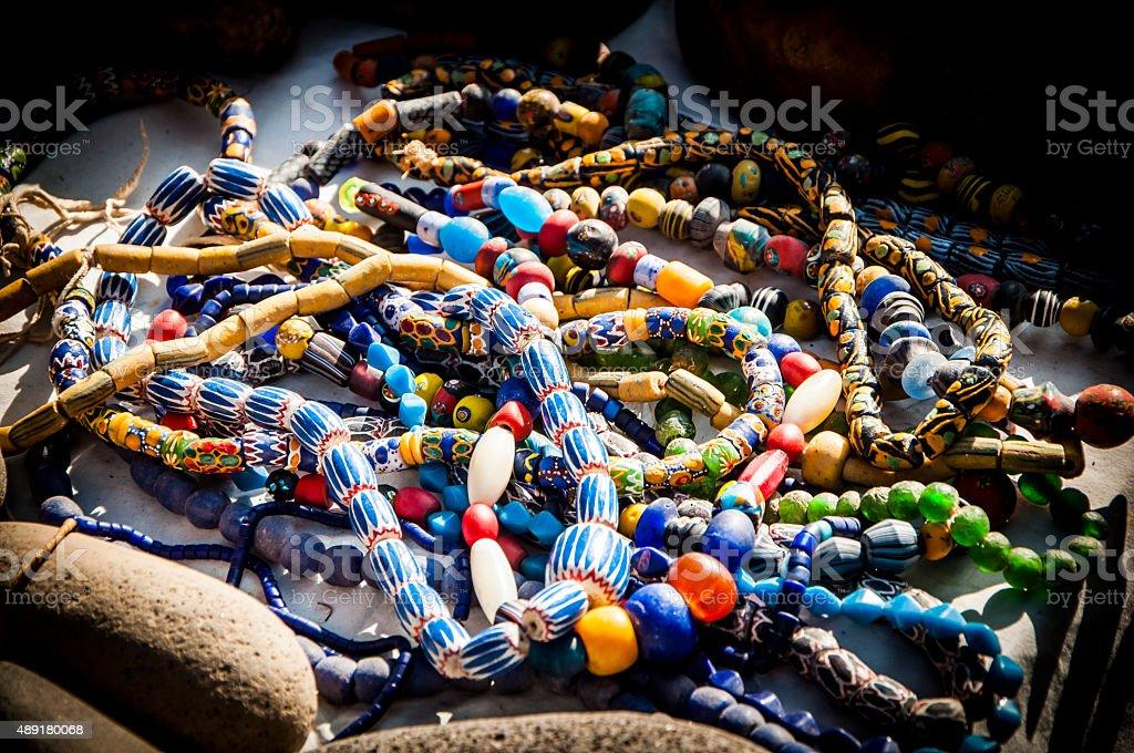 Ethnic necklaces stock photo