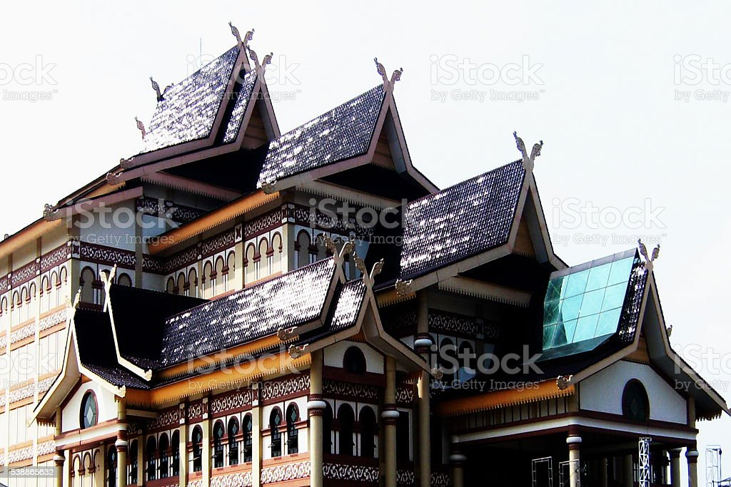 ethnic roof stock photo