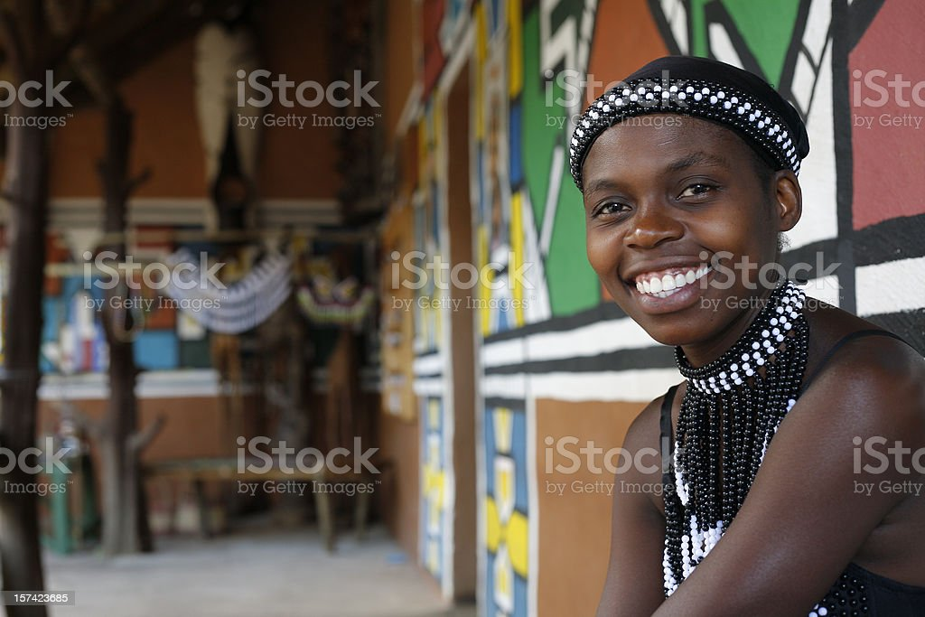 Ethnic South African woman royalty-free stock photo