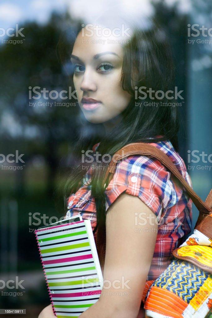 Ethnic student royalty-free stock photo