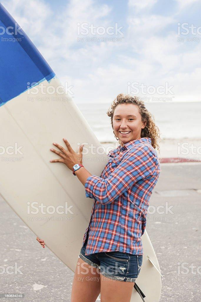 Ethnic Surfer Girl royalty-free stock photo