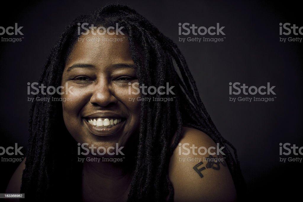 ethnic woman smiling royalty-free stock photo
