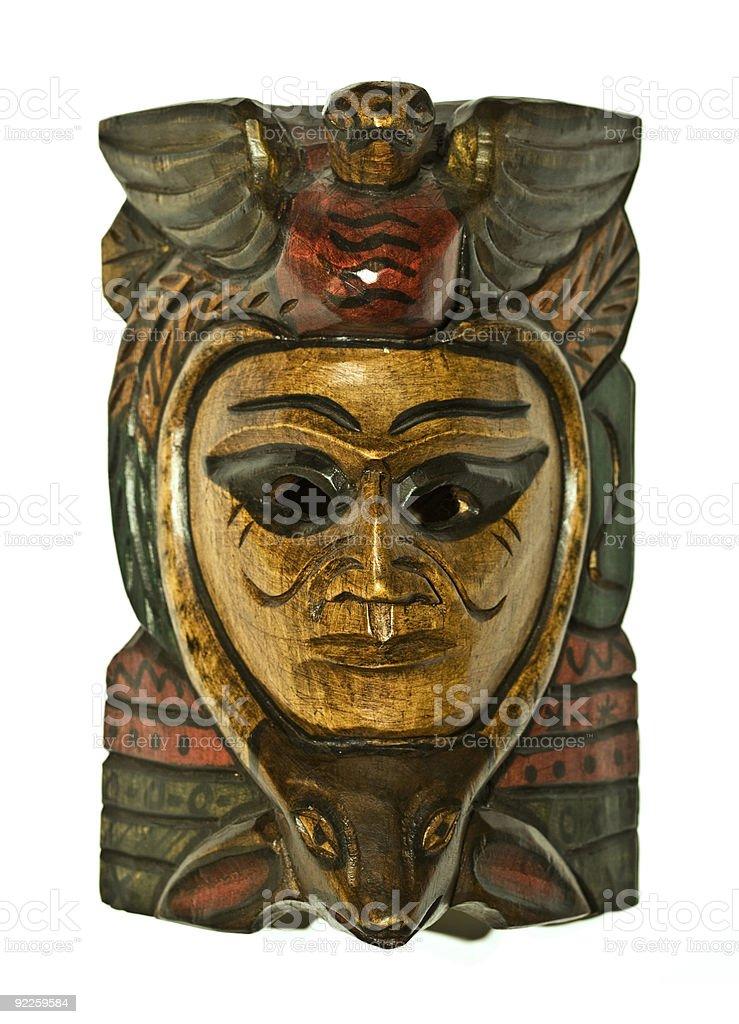 Ethnic Wood Mask royalty-free stock photo