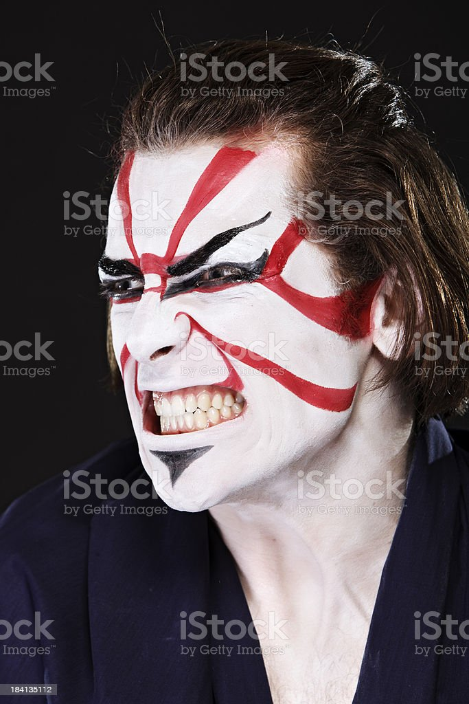 Ethnicities Shoot - Asian Kabuki stock photo