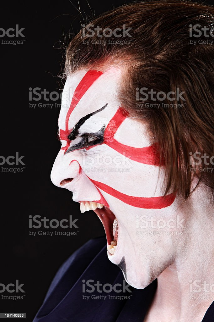 Ethnicities Shoot - Asian Kabuki royalty-free stock photo