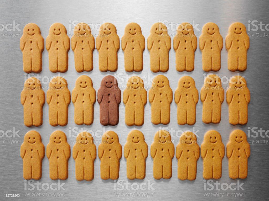 Ethnicity Gingerbread Men royalty-free stock photo