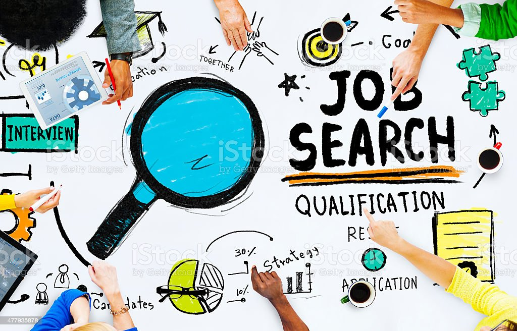Ethnicity People Discussion Job Search Teamwork Concept stock photo