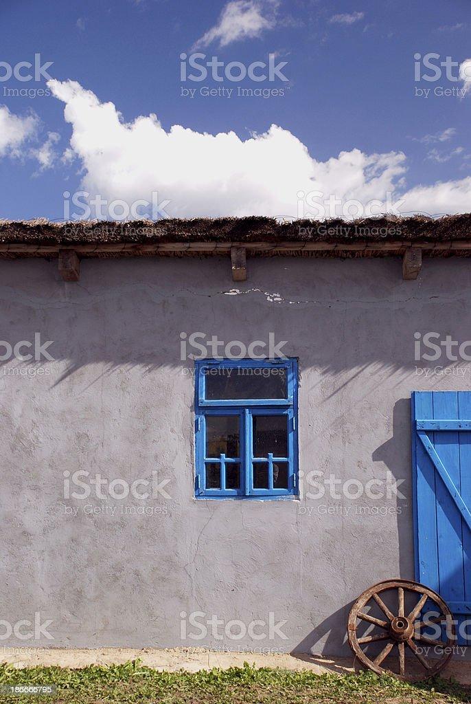 ethnographical moldavian house in Bessarabia, Ukraine stock photo