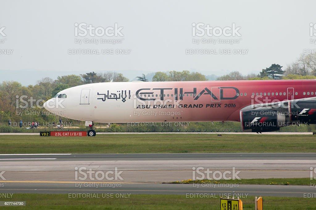 Etihad Airways A340 stock photo