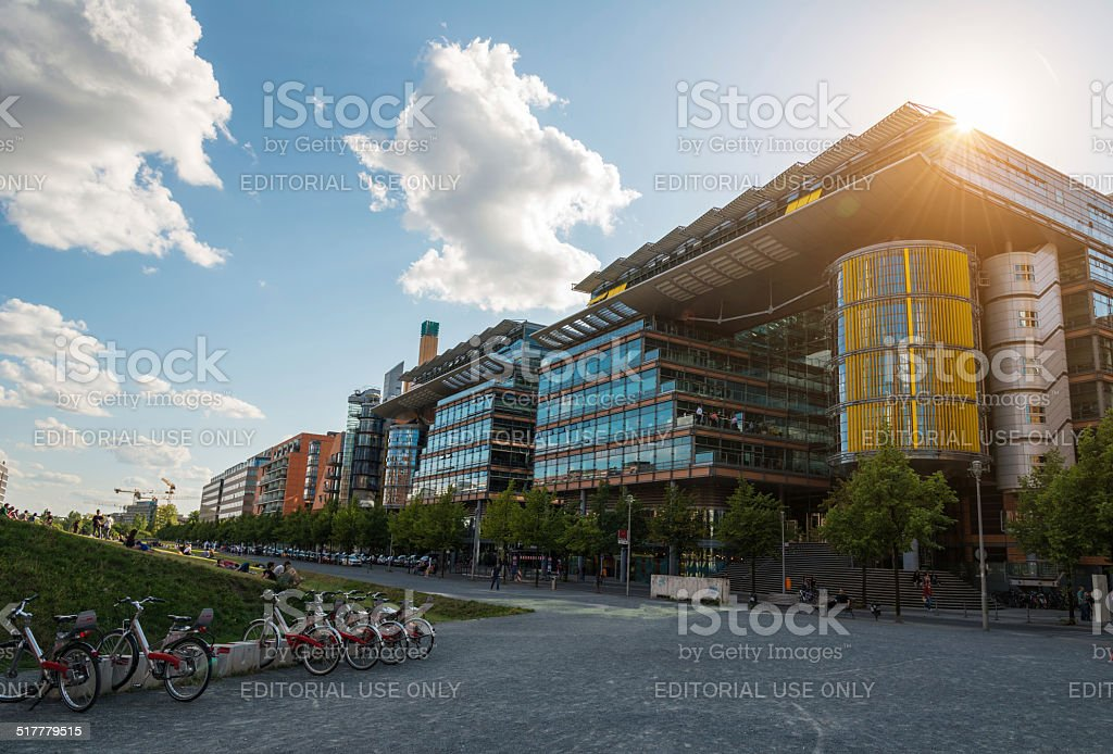 Etihad center in Berlin Potsdamer Platz stock photo