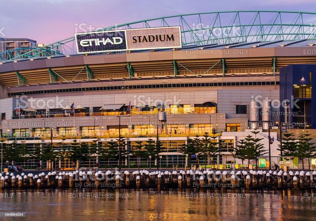 Etihad Stadium, Docklands stock photo