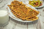Etli Ekmek - Bread with Meat Turkish Pizza - Turkish Traditional Food