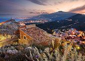 Etna seen from Taormina, Sicily