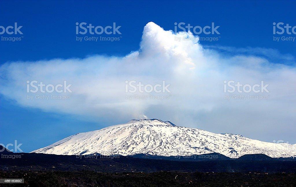 Etna , the volcano that wonder stock photo