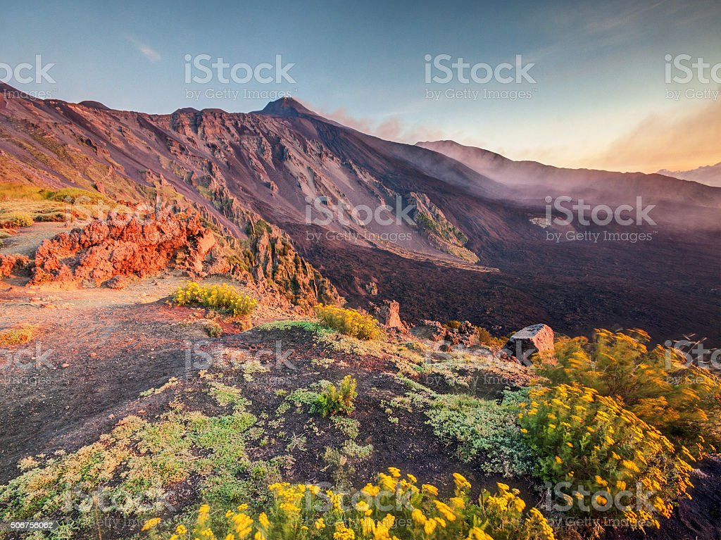 Etna volcano, Sicily stock photo