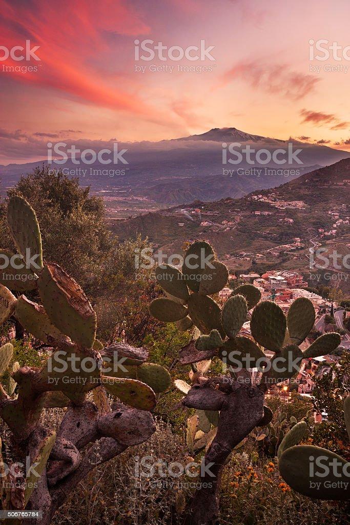 Etna volcano - Sicily stock photo