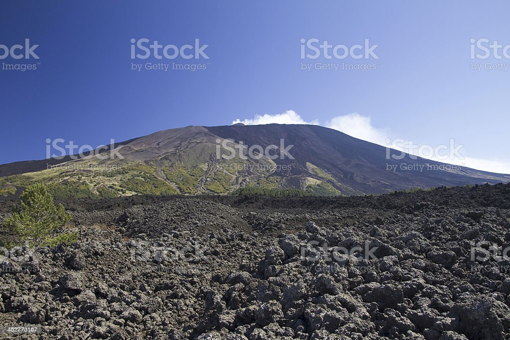Etna west side royalty-free stock photo