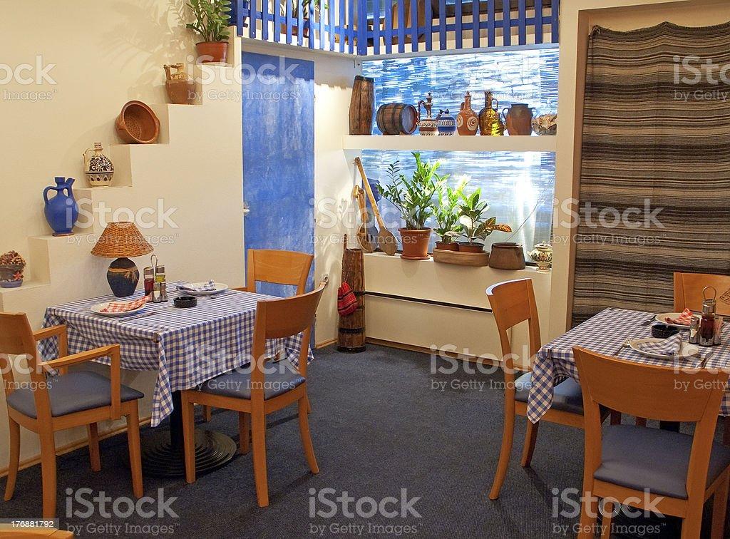Etno restaurant stock photo