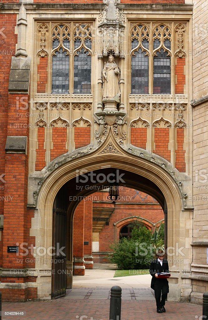 Eton College Arch stock photo