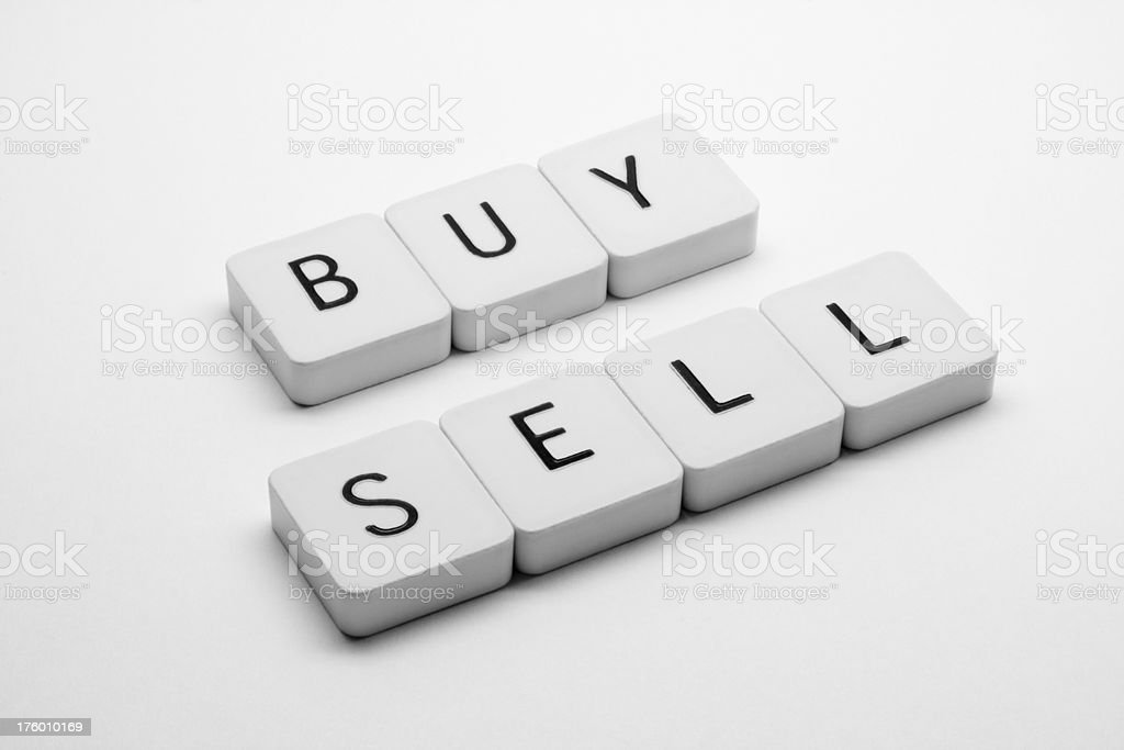 Etrading - Buy & Sell royalty-free stock photo