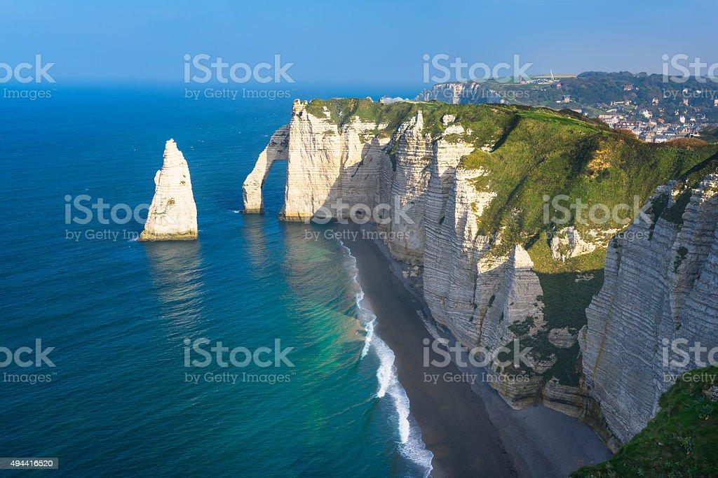 Etretat cliff France stock photo