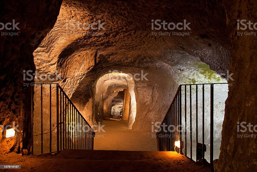 Etruscan Cave stock photo