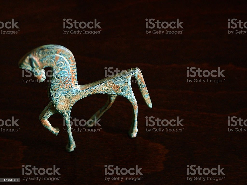 Etruscan horse stock photo