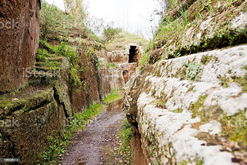 Etruscan Necropolis of Cerveteri stock photo
