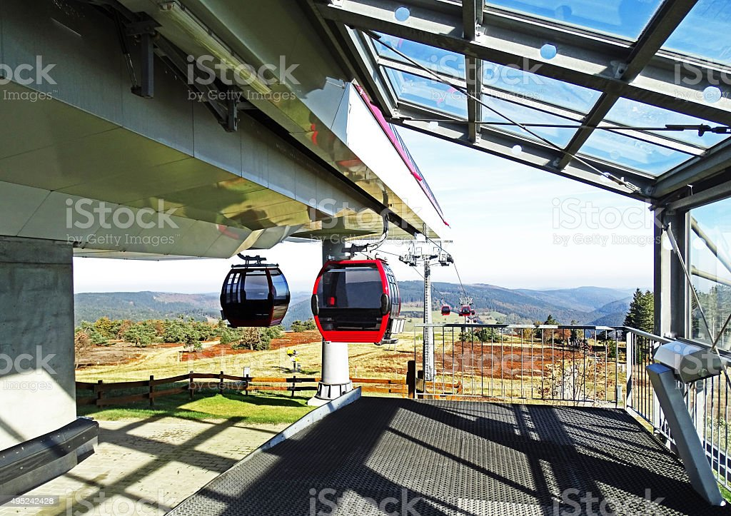 Ettelsberg cable car in Willingen (Germany) stock photo