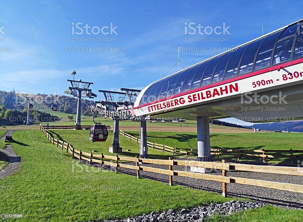 Ettelsberg cable car in Willingen (Germany) stock photo