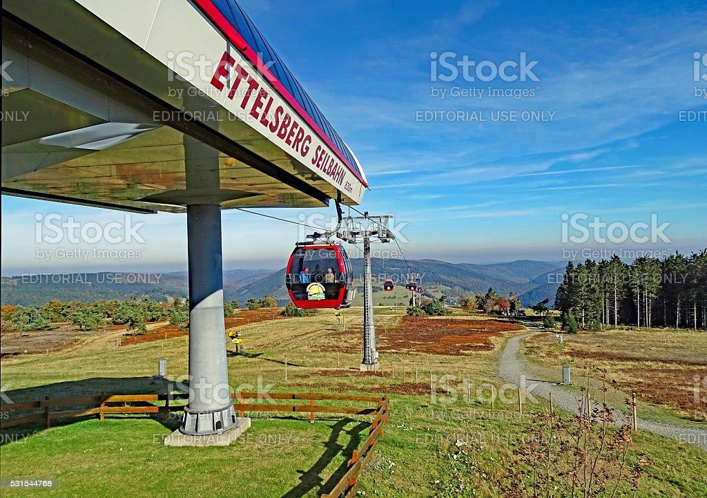 Ettelsberg cable car in Willingen stock photo