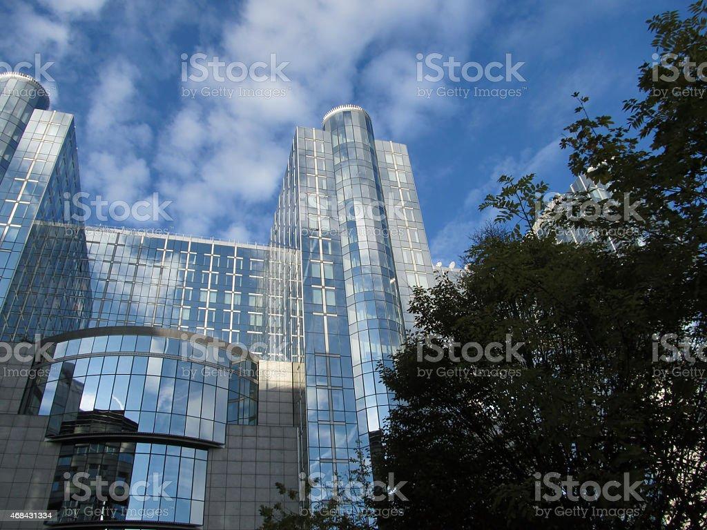 eu parliamentary building stock photo