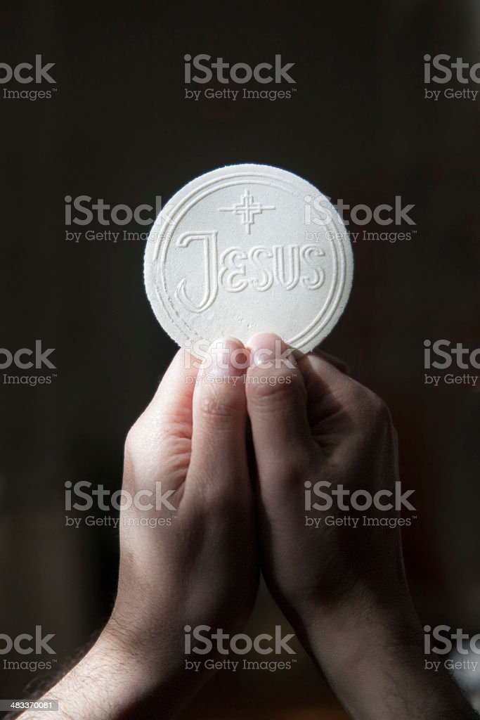 Eucharist stock photo