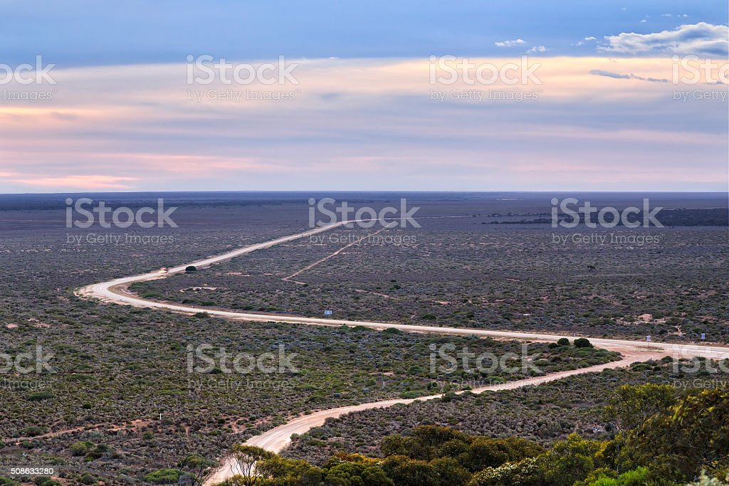 WA Eucla plain highway stock photo